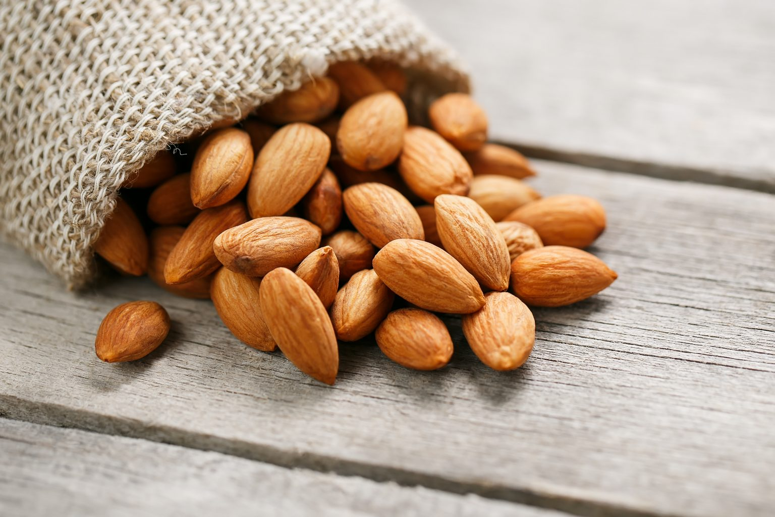 Almonds as they are chock-full of vitamin E and can help to keep your hair